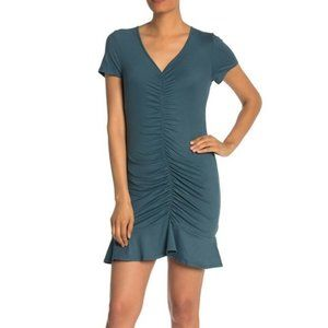The Vanity room Nordstrom Sea Blue ruched Dress M